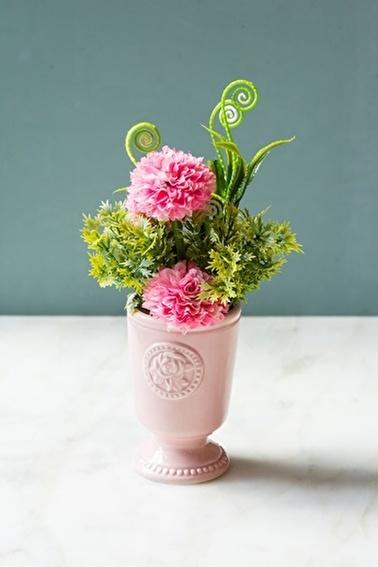 Arma House Pembe Porselen Saksılı Gardenya ( Yapay Çiçek ) Pembe